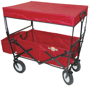 Swiveling Folding Wagon with Canopy Top OEM900124