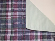 Plaid Quilted Bed Pad CP7007
