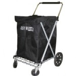 Canvas Folding Shopping Cart with swivel wheels